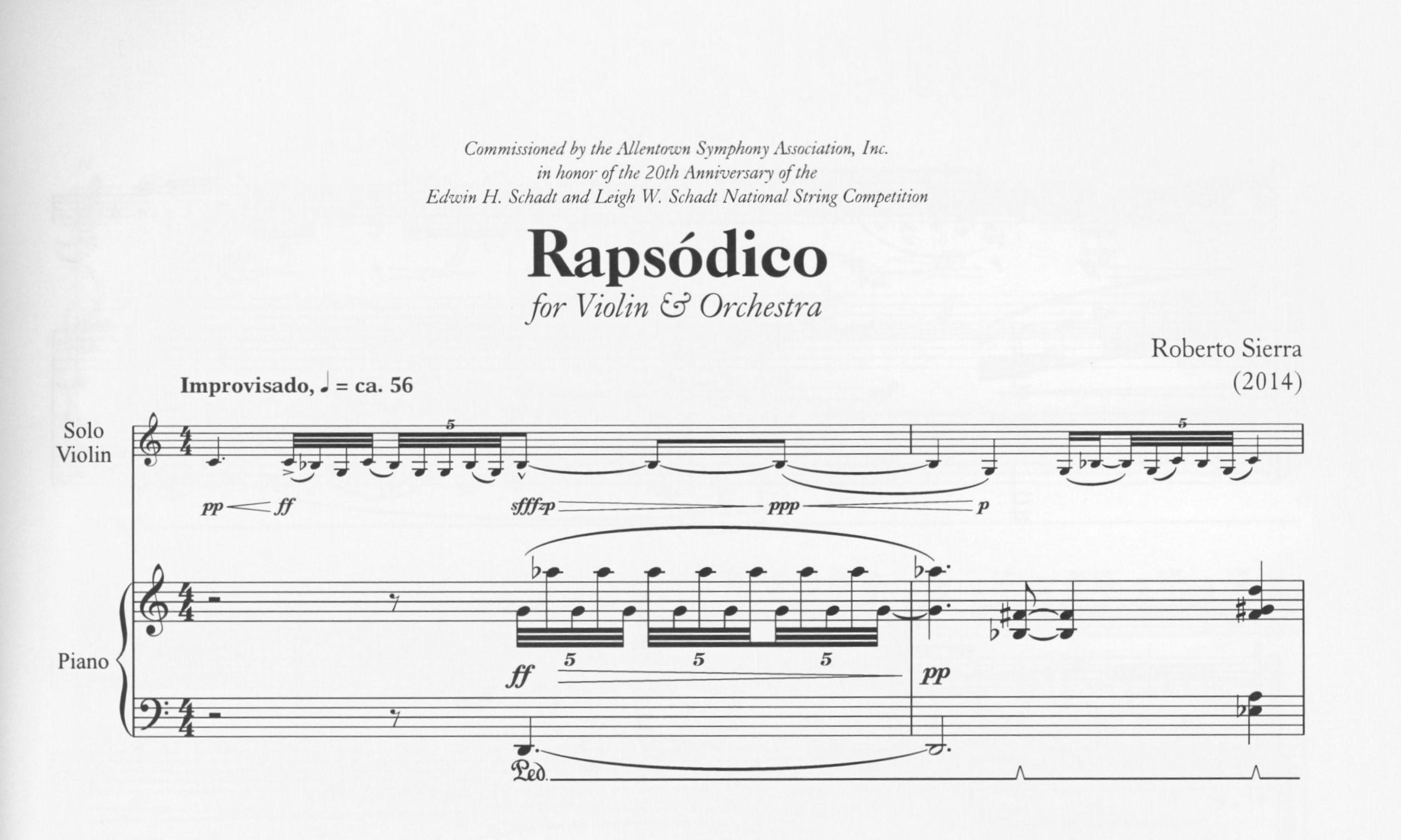 First page of Rapsódico