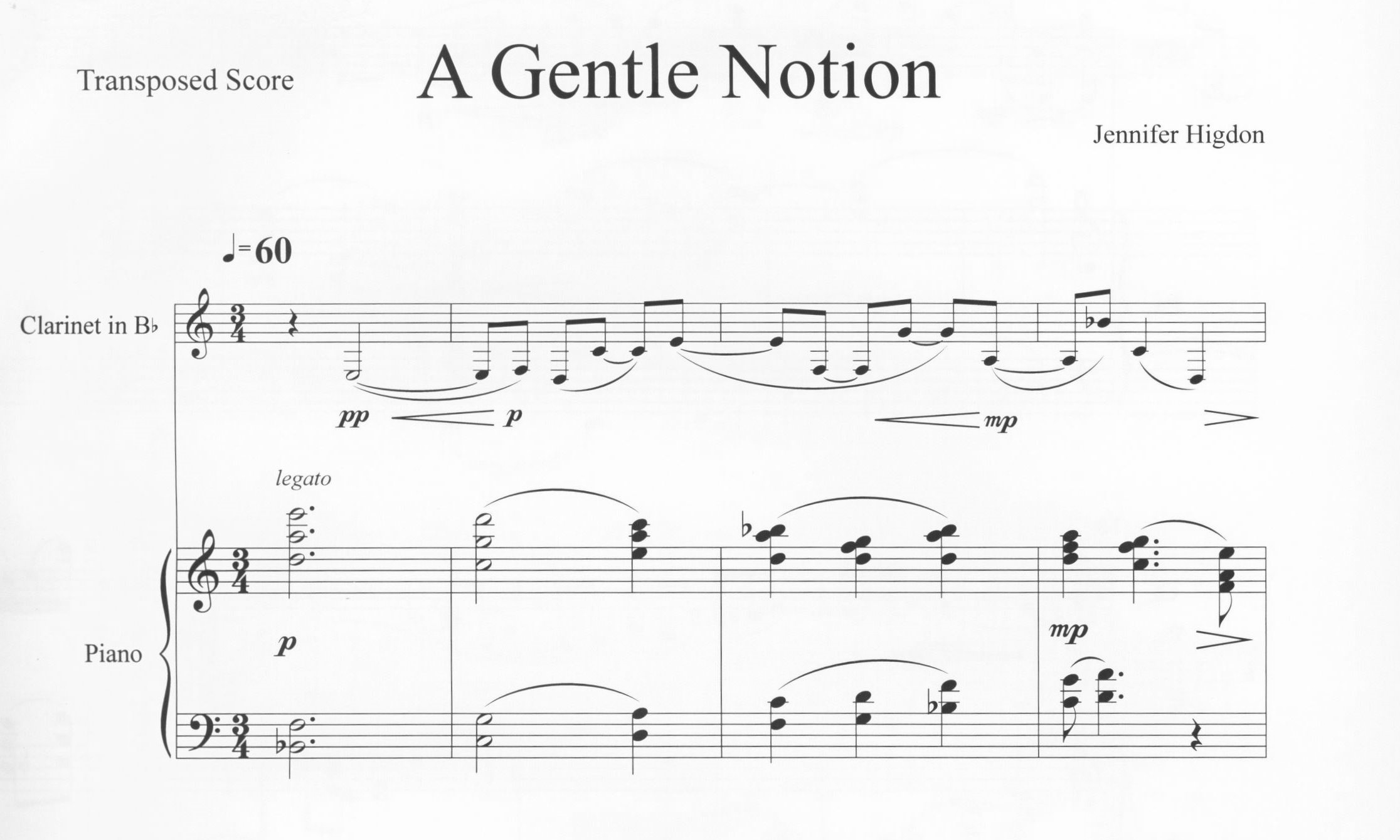 First page of A Gentle Notion