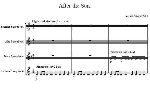 First page of After the Sun