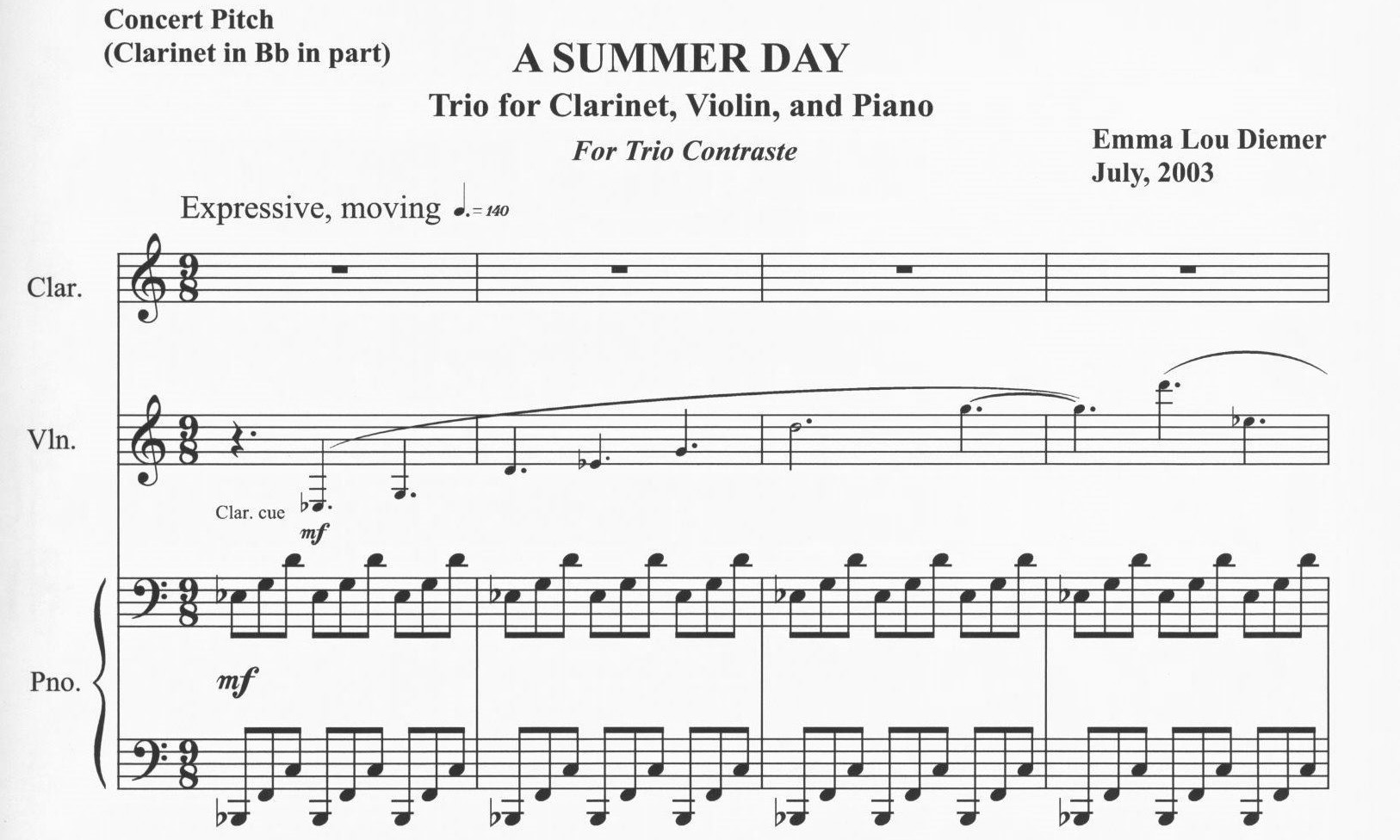 First page of A Summer Day