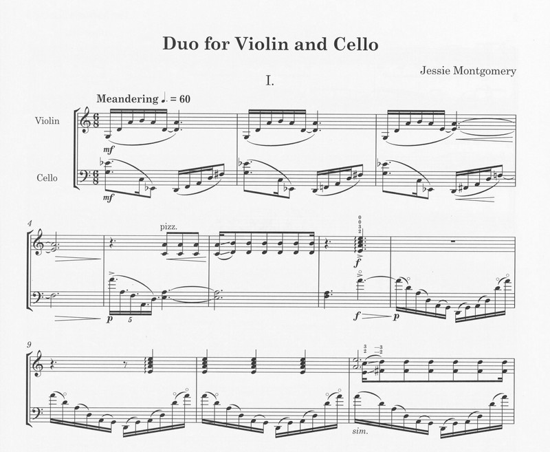 First page of Duo for Violin and Cello